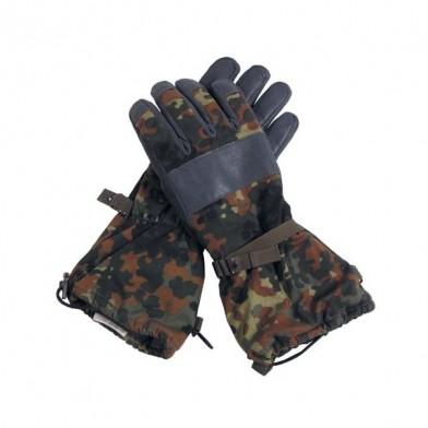 Перчатки с подкладкой с кожаной отделкой bw