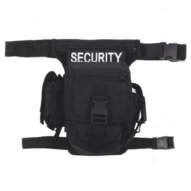 """Сумка поясная с креплением к ноге чёрная """"Security"""""""