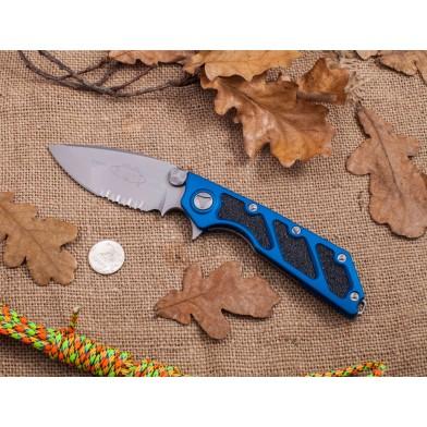 Microtech DOC SE, Blue Handle, Bead Blast ComboEdge